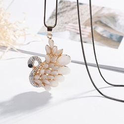 Ericdress Swan Pendant Sweater Necklace for Women