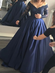 Ericdress Appliques Long Sleeve Prom Dress фото
