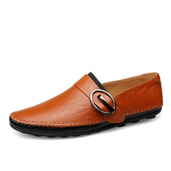 Ericdress PU Buckle Slip-On Mens Loafers
