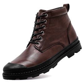 Ericdress Durable Plain Round Toe Men's Martin Boots