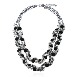 Ericdress Double Layer Imitation Pearl Necklace