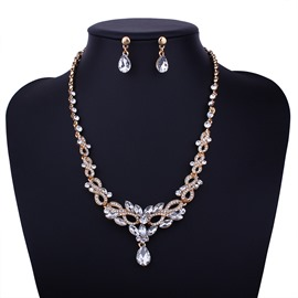 Ericdress Hollow Out Diamante Wedding Accessories Jewelry Set