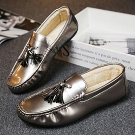 Ericdress Fringe Plain Slip-On Men's Loafers