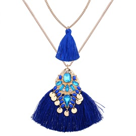 Ericdress National Style Tassel Diamante Women's Necklace