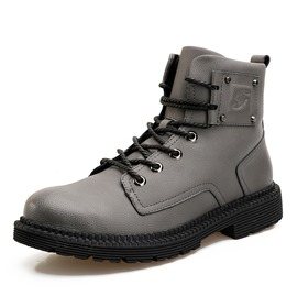 Ericdress Rivet Lace-Up Plain Men's Martin Boots