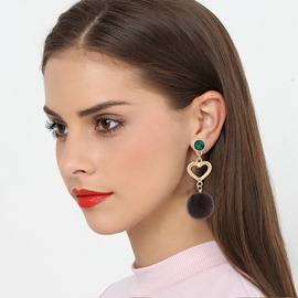 Ericdress Heart Ball Earring for Women