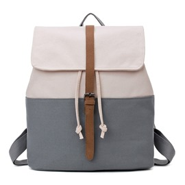 Ericdress Concise Color Block Women Canvas Backpack