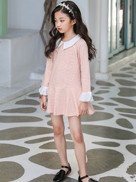 Ericdress Peter Pan Collar Flare Sleeve A-line Girls' Dress