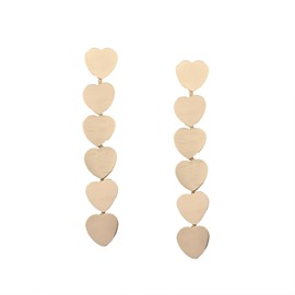 Ericdress Alloy Long Heart Earring for Women