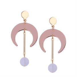 Ericdress All Match Moon-Shaped Long Earring