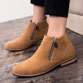 Ericdress Cool Side Zipper Plain Men's Boots