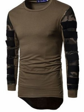 Ericdress Patchwork Asymmetric Men's Hoodie