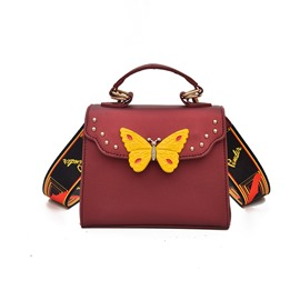 Ericdress Butterfly Decoration Crossbody Bag