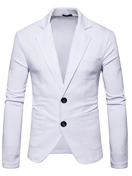 Ericdress Plain Single-Brested Nine Points Sleeves Coat Men's Jacket Blazer
