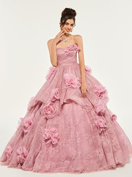 Ericdress Sweetheart Flower Applique Lace Quinceanera Dress