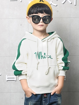 Ericdress Letter Print Color Block Thick Boy's Hoodie
