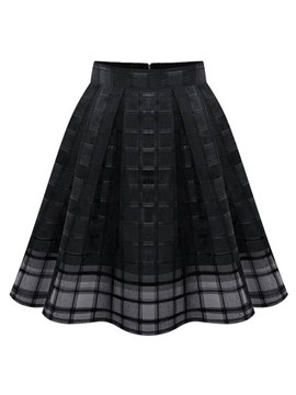 Ericdress Plain Mesh See-Through Women's Skirt