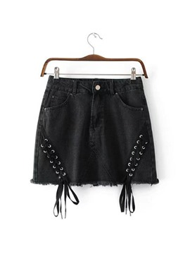 Ericdress Lace-Up Women's Shorts