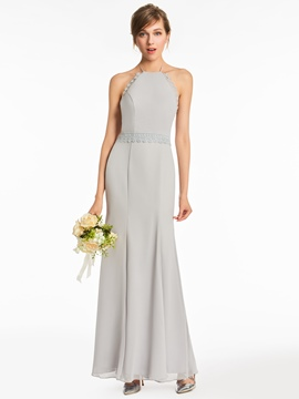 Ericdress Halter A Line Backless Bridesmaid Dress