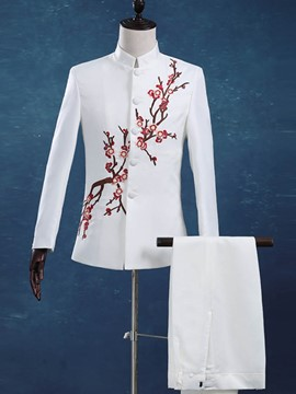 Ericdress Embroidery Chinese Style Men's Blazer
