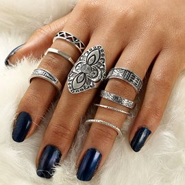 Ericdress 8-Piece Ring Set for Women
