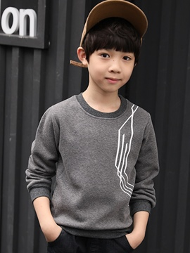 Ericdress Plain Fleece Pullover Boys' T-shirt