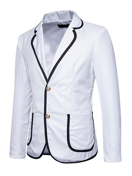 Ericdress Plain Single-Breasted Pocket Suit Men's Jacket Blazer