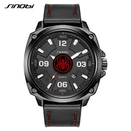 Ericdress Leather and Table Buckle Alloy Material Watch for Men