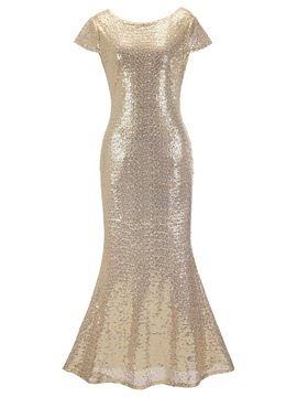 ericdress paillettes backless sirène robe maxi