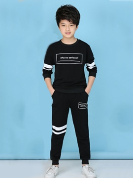 Ericdress Stripe Sweatshirt with Pants Boys' Outfit