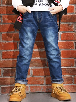 Ericdress Denim Slim Full Length Boys' Jeans