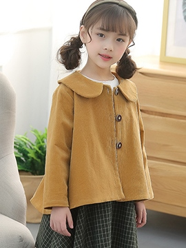 Ericdress Peter Pan Collar Single-breasted Girls' Jacket