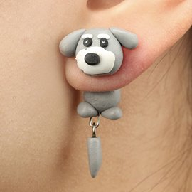 Ericdress Soft Ceramics Dog Women's Earring