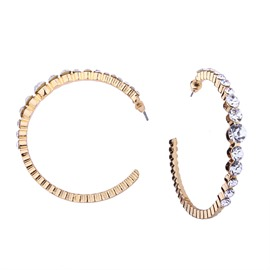 Ericdress Rhinestone Hoops Earring for Women