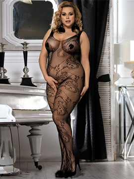 ericdress serré noir sans manches collants transparents