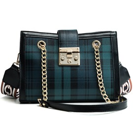 Ericdress Korean Style Plaid PU Women Handbag