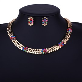 Ericdress Alloy Diamante Short Jewelry Set for Wedding