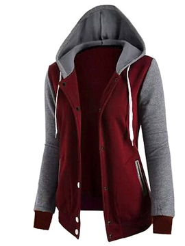 ericdress Patchwork Einreiher Fleece cooler Hoodie