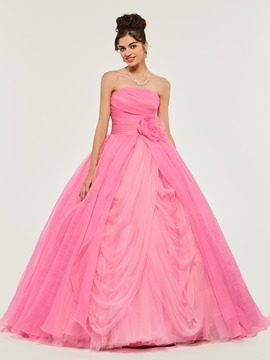 Ericdress Strapless Pleats Empire Quinceanera Dress