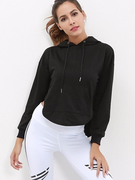 Ericdress Solid Patchwork Anti-Sweat Long Sleeve Sports Tops