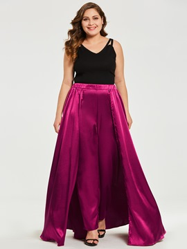 Ericdress Slim Overlay Embellished Plain Plusee Women's Pants
