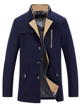 Ericdress England Style Lapel Button Men's Trench Coat