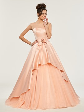 Ericdress Bateau Neck Cap Sleeve Ball Quinceanera Dress