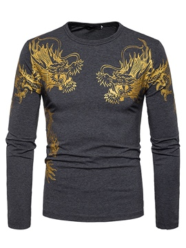 Ericdress Round Neck Long Sleeve Fashion Men's T Shirt