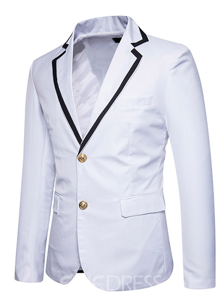 Image of Ericdress Notched Lapel Fit Slim Mens Blazer