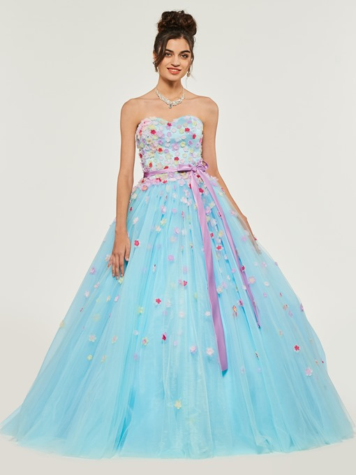 Ericdress Empire Sweetheart Applique Ball Quinceanera Dress