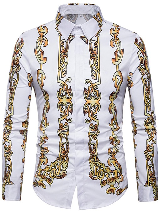 Ericdress African Fashion Dashiki Lapel Color Block Men's Shirt
