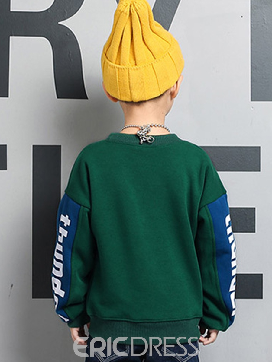 Ericdress Letter Print Cotton Pullover Boys' Sweatshirt