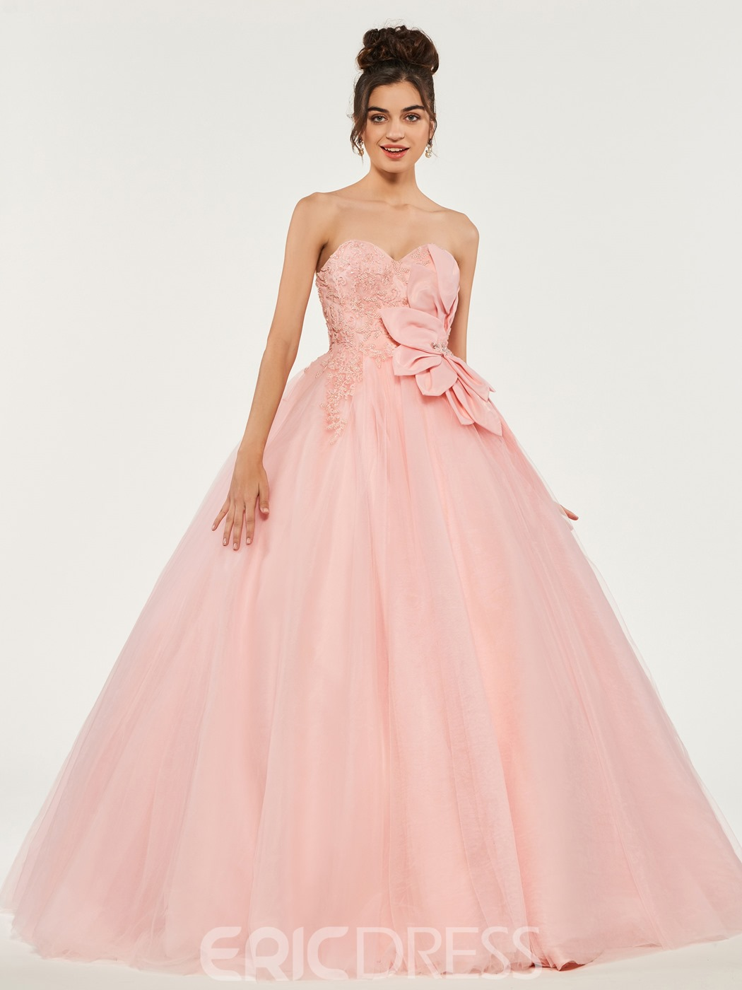Ericdress Sweetheart Applique Beaded Ball Quinceanera Dress With Lace-Up Back