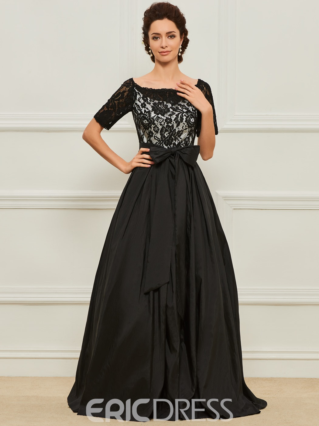 1164a7170c0 Ericdress A Line Lace Short Sleeves Mother of the Bride Dress ...
